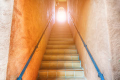 Stairs going up to the light Royalty Free Stock Images