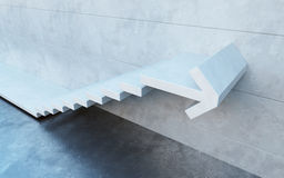 Stairs going  upward Royalty Free Stock Images