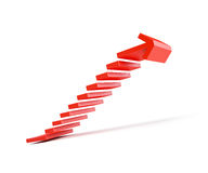 Stairs going  upward Stock Images