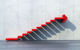 Stairs going upward. Red stairs going upward, success concept Stock Photos