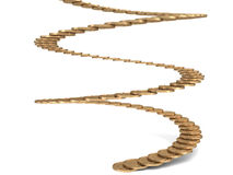 Stairs of gold coins Royalty Free Stock Photos