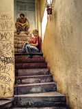 Stairs graffiti Stock Image