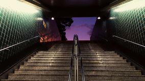Stairway to purple Stock Images