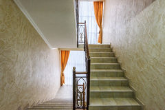 Stairs and hallway of the apartment Stock Images