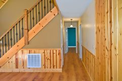 Stairs and Hallway Interior in a House stock photos