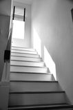 Stairs and handrail on back and white Royalty Free Stock Photos