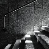 Stairs and handrail Stock Images