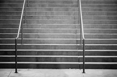 Stairs. With handrails that appear vacated or lonely stock photos