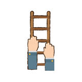 Stairs in the hands related icon Stock Image