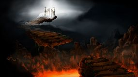 Stairs, Heaven, Hell Stock Image