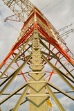 Stairs of a high voltage pylon Stock Photography