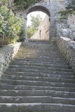 Stairs on Hill, Bonnieux Village, Provence Stock Photography