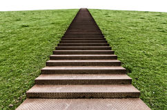 Stairs on a hill Stock Photo