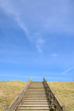 Stairs at a hill Royalty Free Stock Image