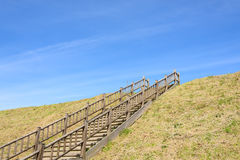 Stairs at a hill Royalty Free Stock Images