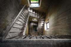Stairs of History. Stairs in an abandoned castle in Italy where knights used to fight many years ago royalty free stock images