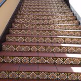 Stairs at Horton Plaza mall San Diego. Stairs with tiles at Horton Plaza mall San Diego, California Royalty Free Stock Photography