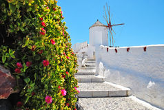 Stairs in hotel building santorini Greece Royalty Free Stock Photography
