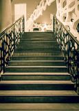 Stairs in the hotel lobby in retro color retouch royalty free stock photos