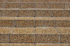 Stairs with colored pebbles Stock Images