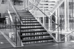 Stairs In A Modern Architecture Building Stock Photography