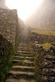 Stairs on the Inca trail. Inca trail is a tough walk at high altitude royalty free stock photos