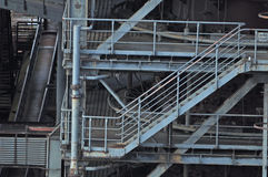 Stairs in industrial factory Stock Images