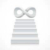 Stairs with infinity symbol on top Stock Photo