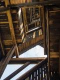 The stairs inside the Goethe Tower, Goetheturm, in Frankfurt, Ge Royalty Free Stock Image