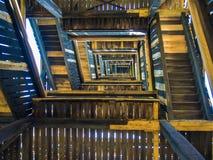 The stairs inside the Goethe Tower, Goetheturm, in Frankfurt, Ge Royalty Free Stock Images