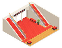 Stairs Interior Isometric Illustration Stock Image