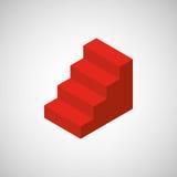 Stairs  isometrics design. Illustration eps10 graphic Royalty Free Stock Image