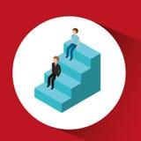 Stairs  isometrics design. Illustration eps10 graphic Stock Images