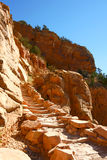 Stairs on the Kiabab trail,  Grand Canyon Royalty Free Stock Photo
