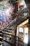Stairs in Kunstahaus Tacheles in berlin Royalty Free Stock Photo
