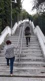 Stairs in Lago garda. In Italy beach Royalty Free Stock Images
