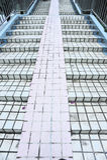 Stairs lead to footbridge Royalty Free Stock Photos