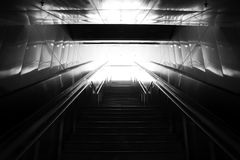 Stairs leading out of concrete pedestri subway. Stock Photography