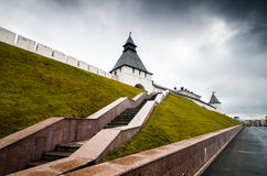 Stairs leading to ancient walls Royalty Free Stock Photography