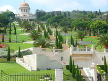Stairs leading to Bahai temple Stock Photography