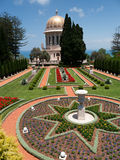 Stairs leading to Bahai temple Stock Image