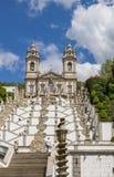 Stairs leading to Bom Jesus do Monte in Braga Stock Photo