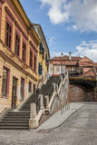 Stairs leading to the bridge of lies in Sibiu Stock Photos