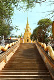 Stairs leading to the Buddhist temple Royalty Free Stock Photos