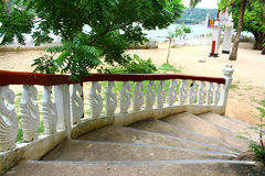 The stairs leading to the Buddhist temple Royalty Free Stock Image