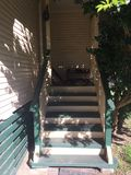 Stairs leading to home. Home sweet home. Steps entryway Stock Photo