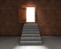 Stairs to the light Royalty Free Stock Images