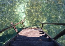 Stairs leading to the sea Stock Photography