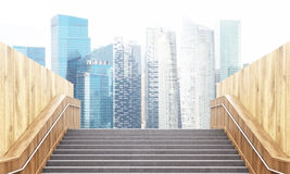 Stairs leading to Singapore Royalty Free Stock Photography