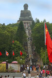 Stairs leading to the statue of Big Buddha, Po Lin buddhist monastery, Hong Kong Stock Photo